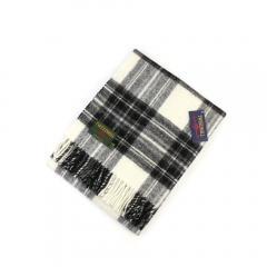 TWEEDMILL ツイードミル ウール タータンチェック 大判 ストール ひざ掛け Traditional Tartan Knee Rug 70×183cm T-KNEERUG F(フリー) Grey Dress Stewart(AK416)