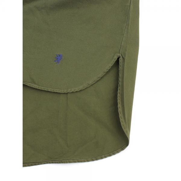 Gymphlex ジムフレックス コットン ツイルバイオウォッシュ ワイド ボタンダウンシャツ J-1281VTW 12(S/M) BEIGE(BEG)