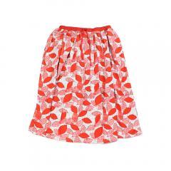 marble SUD マーブルシュッド コットン ビションフリーゼ ギャザー スカート 078S002057 F(フリー) レッド(RED)