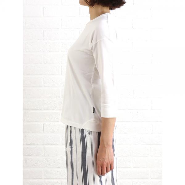 Allumer アリュメール コットン 3/4スリーブ プリンテッド Tシャツ カットソー 8141146 1(S/M) ネイビー(210)