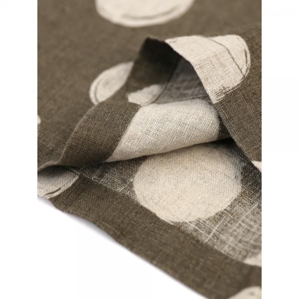 kanade カナデ リネン ドットプリント ワイド 七分袖 プルオーバー 628820 1(S/M) モカ(33)