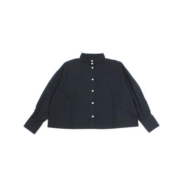 SETTO セット コットン ストライプ柄 長袖 ワイド シャツ OKKAKE SHIRT STL-SH006 F(フリー) ブラック(BLK)