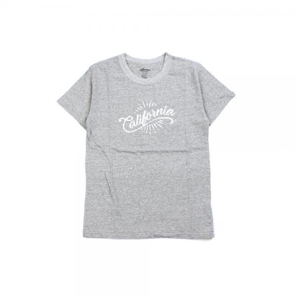 Allumer アリュメール オールドコットン California プリンテッド 半袖 クルーネック Tシャツ カットソー 8241120 1(S/M) グレー(801)