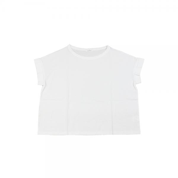 glaz グラズ コットン 強撚天竺 ワイド 半袖 Tシャツ カットソー gz-81122 F(フリー) ホワイト(10)