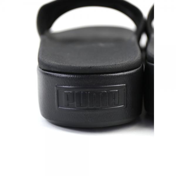 PUMA プーマ  厚底 ロゴ入り サンダル プラットフォームスライドウィメンズ PLATFORM-SLW 23.0cm(23.0cm) ブラック(02)