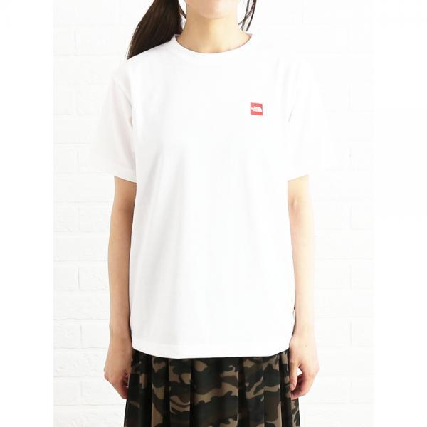 THE NORTH FACE ザ ノースフェイス コットン混 ショートスリーブ スモールボックス ロゴTシャツ カットソー S/S SMALL BOX LOGO T NT31848 S(S) ホワイト(W)