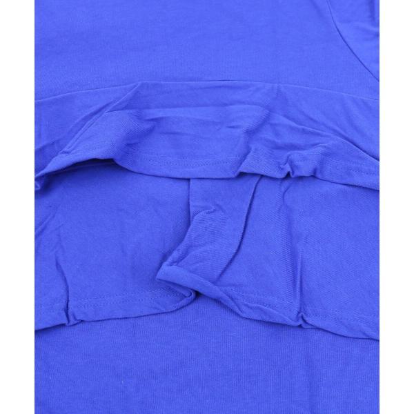 kanade カナデ コットン 40/2天竺 バックラッフル 半袖 Tシャツ カットソー 629032 1(S/M) ブラック(04)