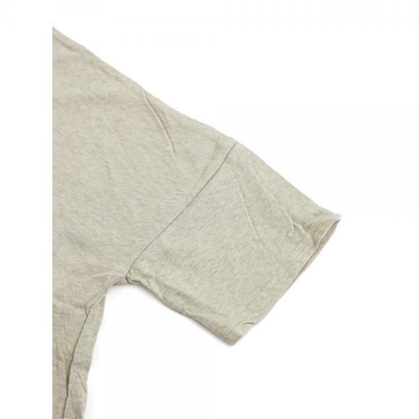 kanade カナデ コットンムラ糸 リサイクル天竺 水玉プリント フレア ワイド カットソー プルオーバー 628015 1(S/M) キナリ(31)