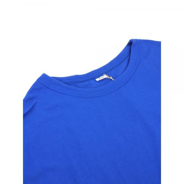 grin グリン コットン ドットジャガード切り替え フレンチスリーブ ワンピース 8182C-017 2(M) ブルー(430)