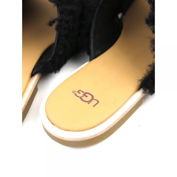 UGG アグ シープスキン クロスストラップ サンダル W JONI 1019967/1092989 1019967 6(23.0cm) ブラック(BLK)