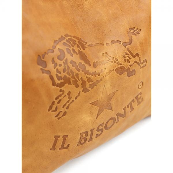 IL BISONTE イルビゾンテ バケッタビンテージ レザー ロゴエンボス ショルダーバッグ 54162307511 F(フリー) ナチュラル(81)