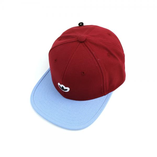 adidas アディダス コットンキャンバス ロゴ入り キャップ 帽子 HERI 6 PANNEL UNSTR CAP EKQ22 OSFX(57~60cm) Cエイトバーガンディ×ABL(5694)