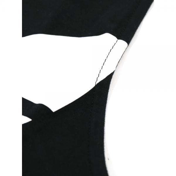 adidas アディダス コットン混 ロゴプリント タンクトップ HERI TREFOIL TANK ELW24 M(M) ブラック(5578)