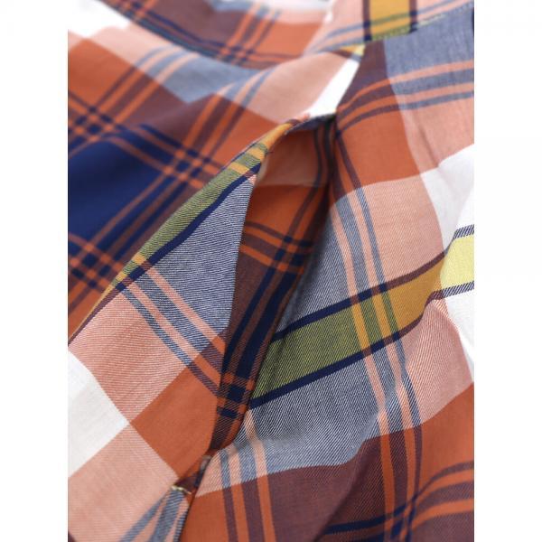 STOCK&INTELLIGENCE ストックアンドインテリジェンス コットンレーヨン マドラスチェック フレアスカート ロングスカート 30351P M(9号) ネイビー(NV)