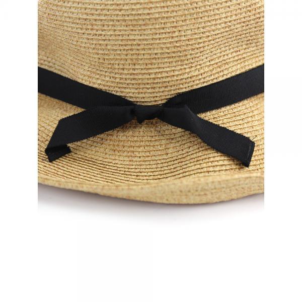 Odds オッズ ペーパー混 グログランリボン ハット 帽子 PLIAGE HAT OD181-0409 F(フリー) ナチュラル(NAT)