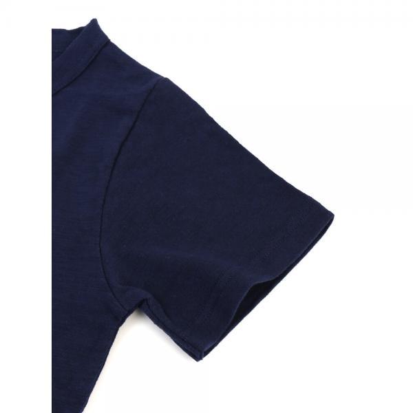 DANA FANEUIL ダナファヌル コットン スラブ 刺繍入り クルーネック 半袖 Tシャツ カットソー D-5618201 2(M) ホワイト×ネコ(11C)