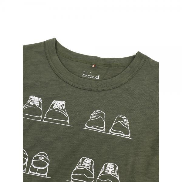 DANA FANEUIL ダナファヌル コットン スラブ 靴プリント クルーネック 半袖 Tシャツ カットソー D-5618202 2(M) ホワイト(11)
