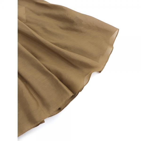 ara・ara アラ・アラ コットン混 ノースリーブ バックフリル シャツ ブラウス 182034 2(M) ブラウン(018)