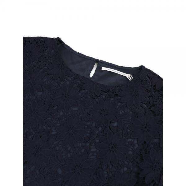 style zampa for the holidays スタイルザンパフォーザホリデイズ  ケミカルレース 7分袖 ブラウス プルオーバー Z57938 M(9号) オフホワイト(02)