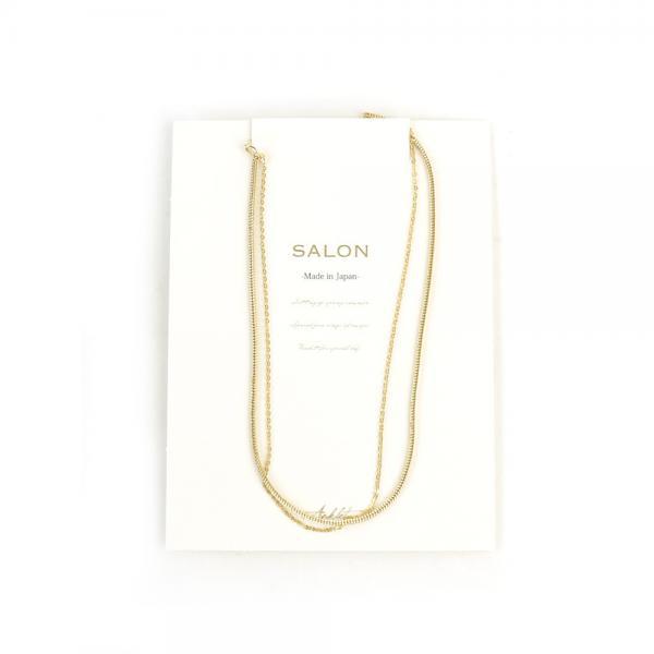 SALON サロン  2連チェーン アンクレット TS58AH F(フリー) ゴールド(GD)