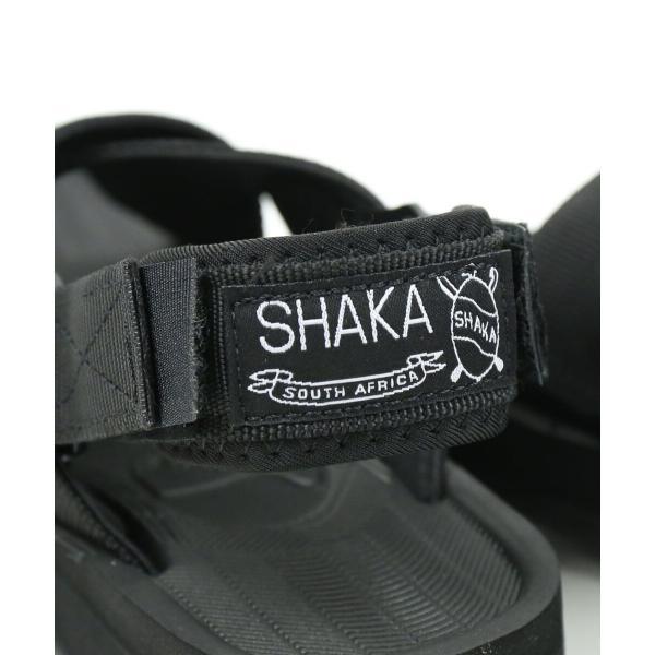 SHAKA シャカ  ベルクロ クロスストラップ 2WAY スポーツサンダル FIESTA 433043W 5(23.0cm) BLACK/BLACK(BLK)