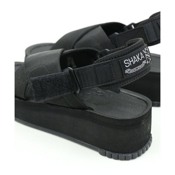 SHAKA シャカ  ベルクロ クロスストラップ 2WAY 厚底 スポーツサンダル FIESTA PLATFORM 433045W 5(23.0cm) BLACK(BLK)