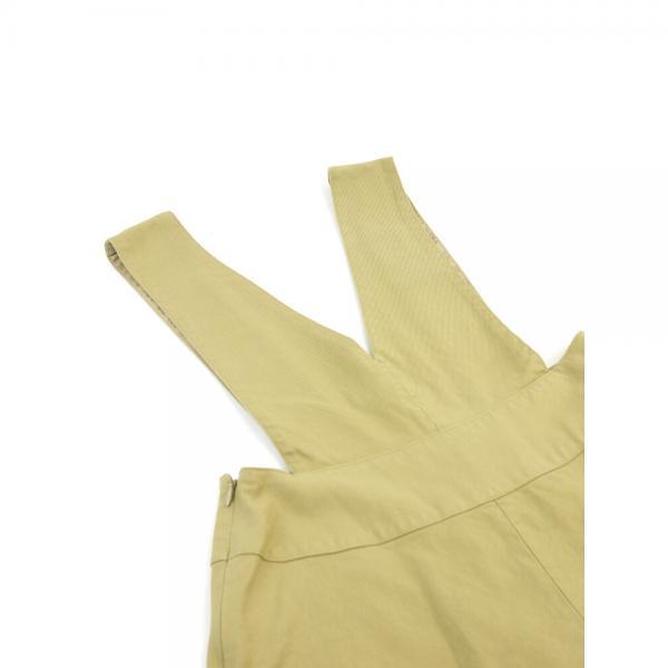 GRANDMA MAMA DAUGHTER by KATO' グランマ・ママ・ドーター コットン Aライン ジャンパースカート サロペットスカート GK821071 0(S/M) ベージュ(BEG)