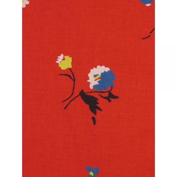 GRANDMA MAMA DAUGHTER by KATO' グランマ・ママ・ドーター コットンローン フラワープリント ワイド ギャザー シャツ ブラウス GS821991 1(M) オフホワイト(OFF)