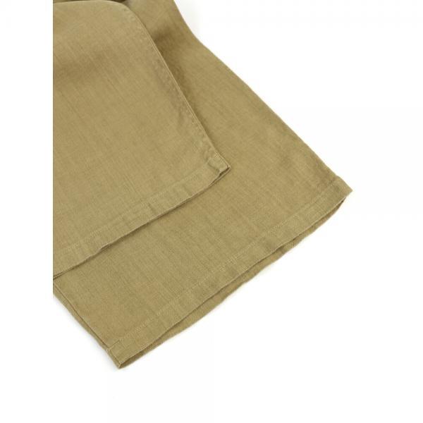 NATURAL LAUNDRY ナチュラルランドリー リネン ドローコード付き ワイドパンツ モッズパンツ 7182P-001 2(M) オリーブグレー(590)