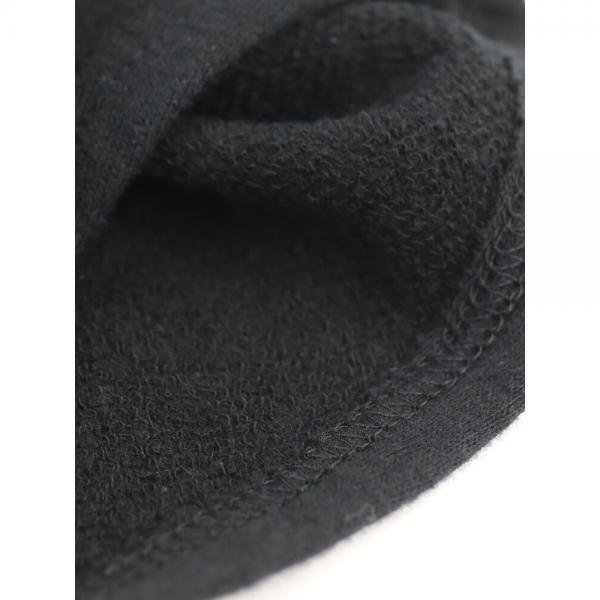 NATURAL LAUNDRY ナチュラルランドリー コットン ガーゼ裏毛 ドット切替 フレンチスリーブ ジェンヌワンピース 7182C-006 2(M) ブラック(990)