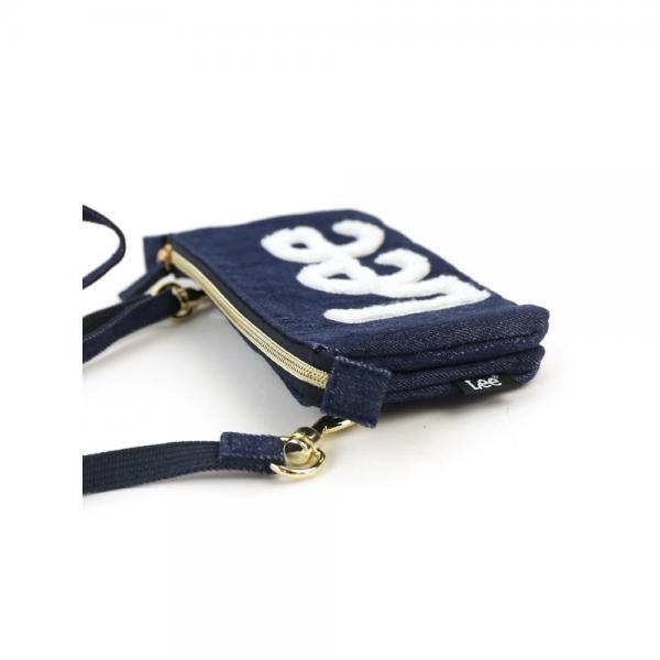 Hawk Company ホークカンパニー ×Lee 限定モデル コットン デニム ロゴ刺繍 ミニ ウォレットバッグ  お財布ポシェット 0520406 F(フリー) オフホワイト(01)