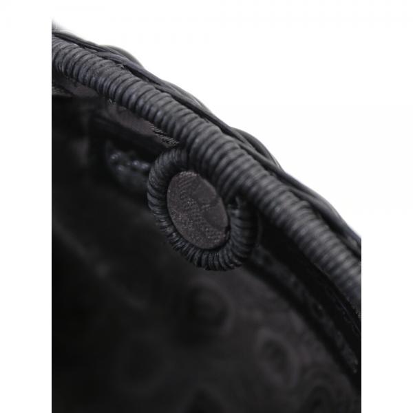 TOFF&LOADSTONE トフアンドロードストーン ポリエチレン×ラタン 2WAY ミニ ショルダーバッグ かごバッグ クラッチバッグ グランマズラタンS TL-5750 F(フリー) ブラック(BK)