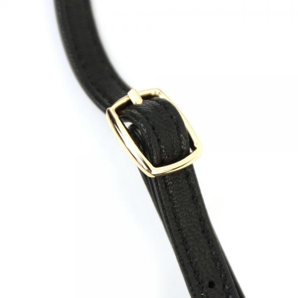 Hashibami ハシバミ シープレザー 2WAY ヴェニス ミニ ショルダーバッグ ウエストポーチバッグ HA-1711-477 F(フリー) ブラック(BLK)