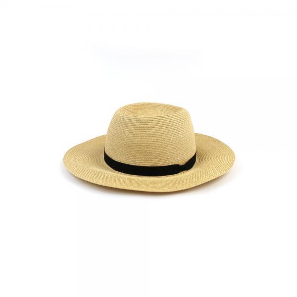 French Bull フレンチブル  中折れ 細リボン ブレード ペーパーハット 帽子 ハントハット 36-10181 F(フリー) キナリ(43)