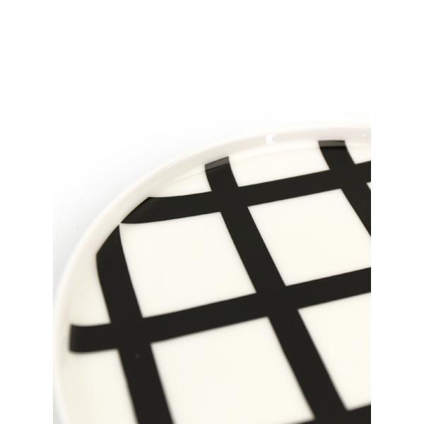 marimekko マリメッコ  スパルイェ柄 ラウンドプレート SPALJE PLATE 20CM 52179468301 F(フリー) ホワイト×Dグレー(98)