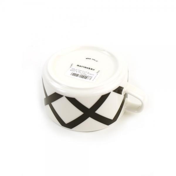 marimekko マリメッコ  スパルイェ柄 ティーカップ SPALJE TEACUP 2.5DL 52179468302 F(フリー) ホワイト×Dグレー(98)