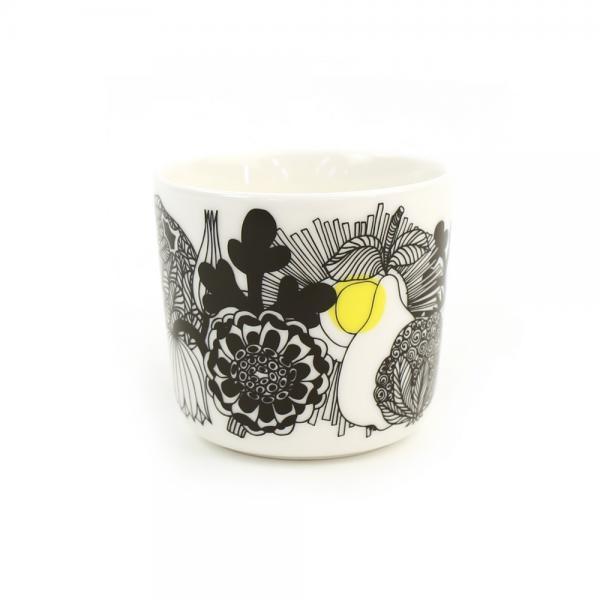 marimekko マリメッコ  シィールトラプータルハ柄 コーヒーカップ SIIRTOLAPUUTARHA C.CUP 52179468439 F(フリー) ホワイト×BLK×イエロー(55)