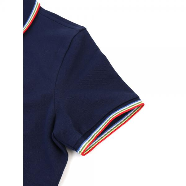 LACOSTE ラコステ コットン混 スリムフィット 半袖 ポロシャツ STRETCH MINI PIQUE PF4897L 36(M) ネイビー(166)