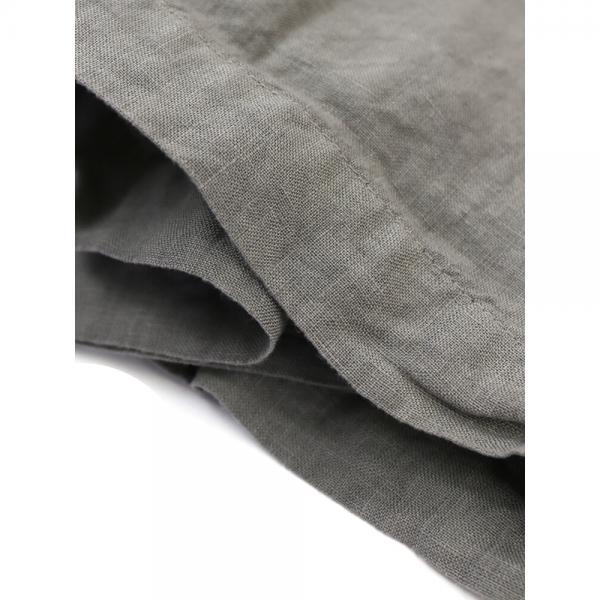 ARMEN アーメン リネン ボートネック 7分袖 ポケット付き ワンピース boatneck 3/5SL OP WITH POCKET NAM1733LP 0(S/M) INK NAVY(393)