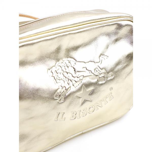 IL BISONTE イルビゾンテ メタリックレザー ロゴエンボス タッセル付き ショルダーバッグ 54172308111 F(フリー) プラチナ(42)