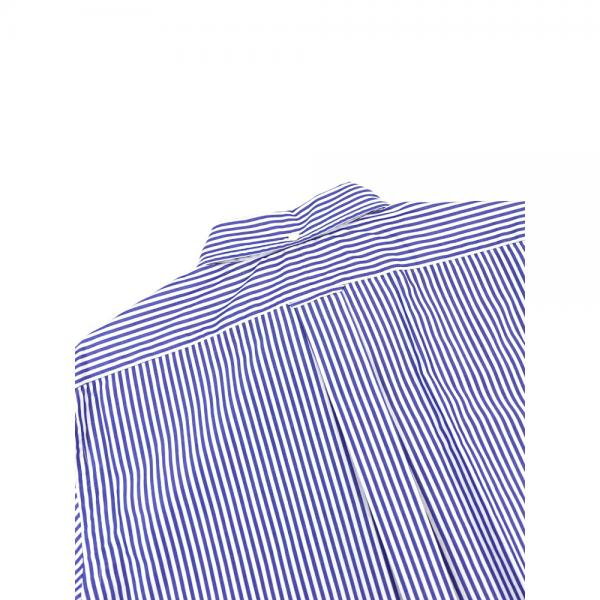 Gymphlex ジムフレックス コットン ストライプ 半袖 ボタンダウンシャツ J-0937TSS L(メンズL) BLUE STRIPE(BLST)
