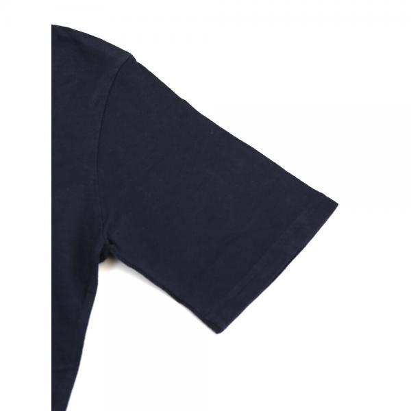 Saintete サンテテ コットン クルーネック 半袖 フロッキープリント LOVE ロゴTシャツ カットソー MRH009 1(M/L) インクブルー(IBLU)
