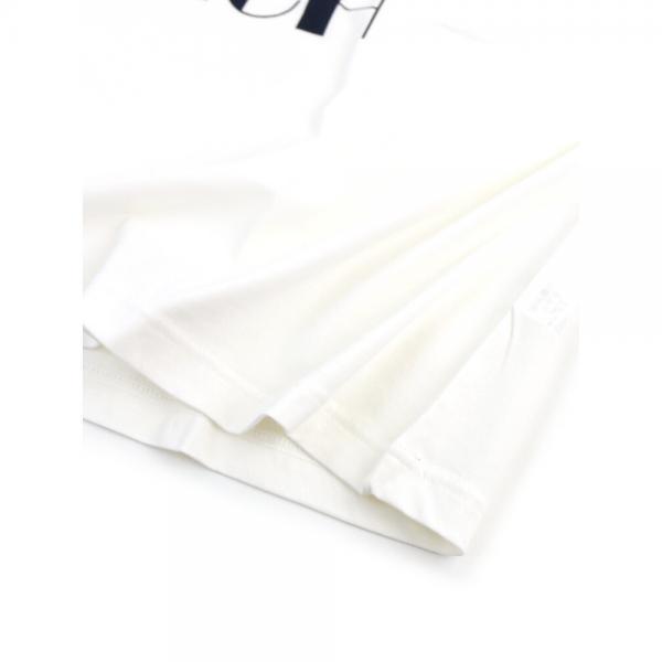 GRANDMA MAMA DAUGHTER by KATO' グランマ・ママ・ドーター コットン 半袖 クルーネック ワイド ロゴTシャツ ビッグTシャツ GC823641 1(S/M) ホワイト(WHT)