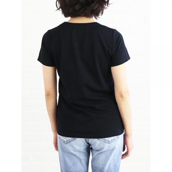 PUPULA ププラ コットン 半袖 クルーネック スパンコール 刺繍 Tシャツ カットソー 184199 38(M) ホワイト×ゴールド(01)