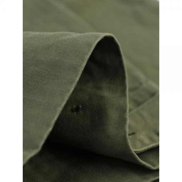 chimala チマラ コットン ヘリンボーンクロス ハイウエスト ワイドパンツ アーミーパンツ CS25-WP11 S(S) カーキ(KHA)