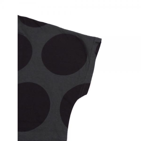 NATURAL LAUNDRY ナチュラルランドリー コットン ドットプリント ワイド カットソー プルオーバー 7183C-009 2(M) ネイビー(484)
