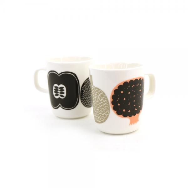 marimekko マリメッコ  コンポッティ柄 マグカップ KOMPOTTI MUG 52189469317 F(フリー) ホワイト×グレー(34)