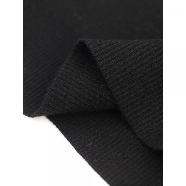 RIM.ARK リムアーク レーヨン混 ベーシックノースリーブ リブ ニット プルオーバー 460BSL70-0230 F(フリー) ブラック(020)