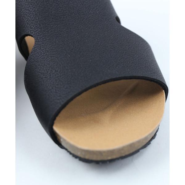PLAKTON プラクトン  サイドスリット バックストラップ サンダル 243033 35(22.5cm) ベージュメタリック(BEG)