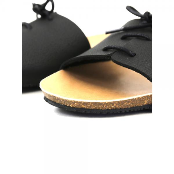 PLAKTON プラクトン  レースアップ フラットサンダル 575316 36(23.0cm) ブラック(BLK)